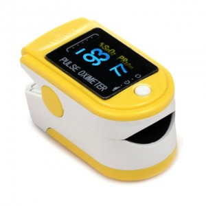 Pulsoksymetr OLED Fingertip Yellow CMS-50D